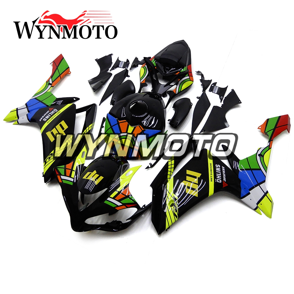 ABS Injection Plastics Fairings For Yamaha YZF1000 R1 Year 2007 2008 07 08 Motorcycle Full Fairing Kit Yellow Black Colorful hot sales yzf600 r6 08 14 set for yamaha r6 fairing kit 2008 2014 red and white bodywork fairings injection molding