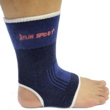 2014 Outdoor Sports Basketball Kick Boxing Compression Ankle Support Badminton protective ankle 2pieces