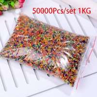50000 Pcs/set Crystal Mud Hydrogel Orbeez Crystal Soil Outdoor Water Beads Vase Soil Grow Magic Balls Kid's Toy Home Decorati