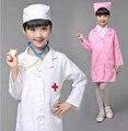 Crianças Dia Das Bruxas Cosplay Traje Crianças Médico Enfermeira Traje Uniforme Meninas Com Chapéu + Máscara 18