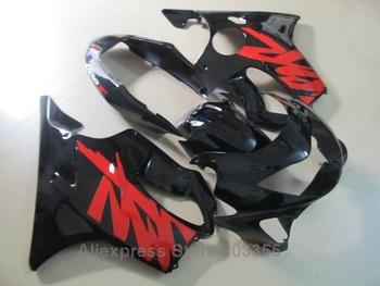For HONDA CBR600 F4 Fairings 1999 2000 ( Red Scrawl ) Injection cbr 600 f4 99 00 black fairing kit ll33