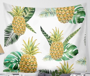 Image 3 - CAMMITEVER Waves Pineapple Fruit Tapestry Polyester Curtains Plus Table Cover Wall Hanging Tapestry Decor
