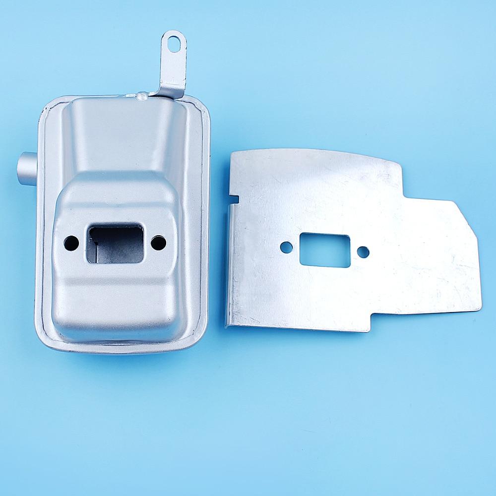 Muffler Exhaust Heat Shield Deflector Kit For Zenoah G45L G35L BC3410 BC4310 Trimmer Brushcutter Silencer Replacement Part