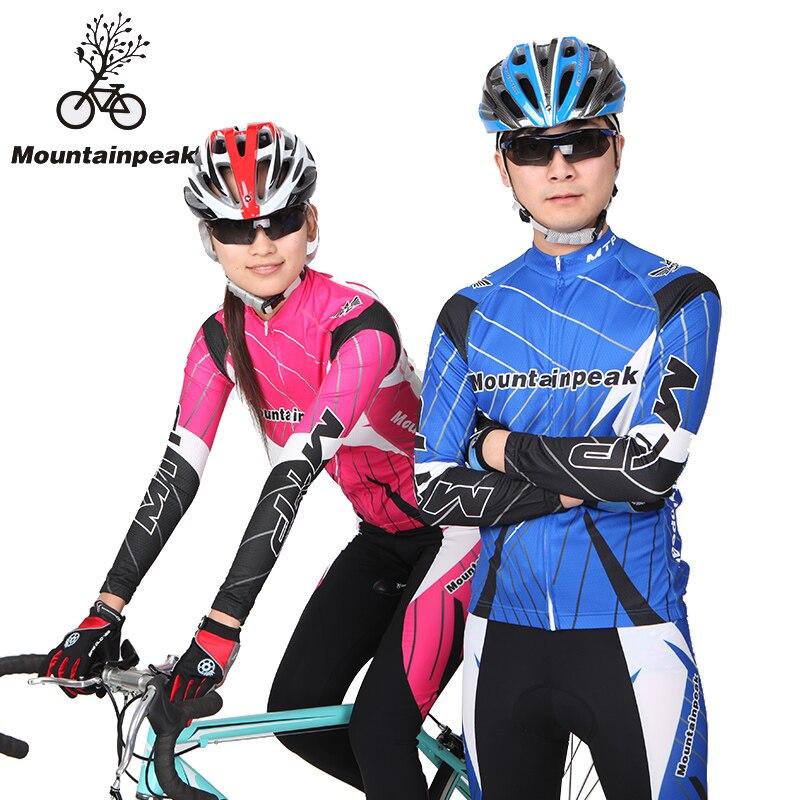 Пара рюкзак езда костюм с длинными рукавами костюм мужчины и женщины Велоспорт одевать брюки брюки для верховой езды