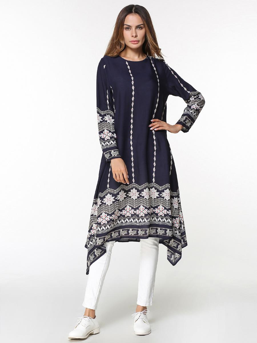 Chemise Robe Imprimer Musulman Tuniques orientale