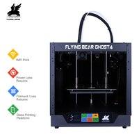 Vận chuyển từ Nga 2019 Phổ Biến Flyingbear-Ghost4 3D Máy In full khung kim loại DIY Bộ với Màu Cảm Ứng tặng SD