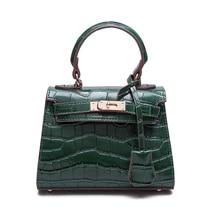 Mini sacs crocodile designer sacs à main de haute qualité femme sacs 2016 sac à main de mode sacs à main petit sac Vert Ruban Noir