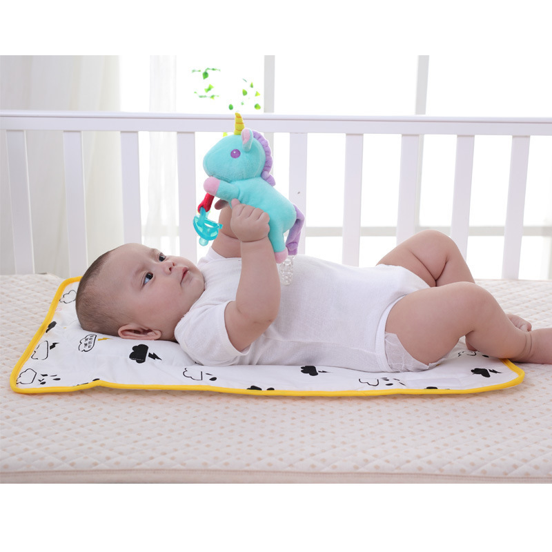 Washable Baby Bed Sheet Portable Foldable Travel Nappy Diaper Changing Mat Waterproof Floor Cushion Changer Play Pad Mattress