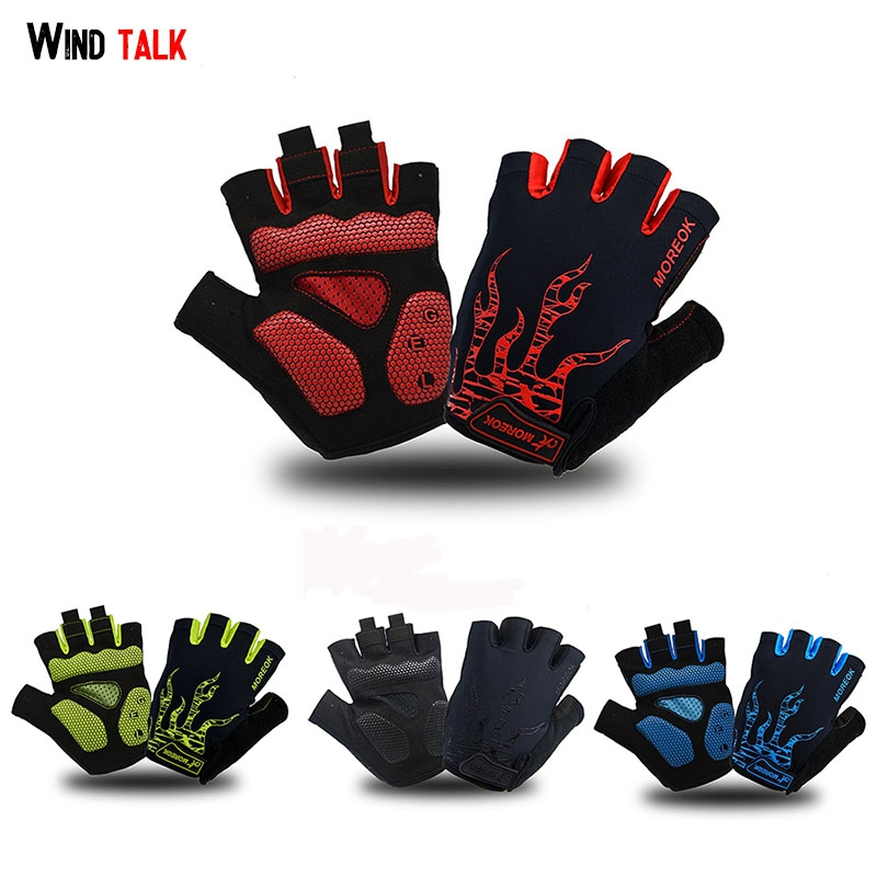 Wind Talk Summer Gym Sport Guantes Mtb Cycling Gloves Half Finger Gel Shockproof For Man Mountain bike Gloves Handschoenen