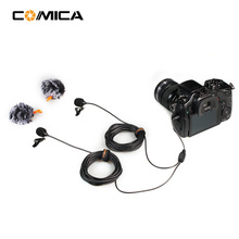 New Commlite COMICA Dual-head Universal Mic Toveis lydopptak Metal Anti-Interferens Mic for DSLR-kamera SmartPhone Gopro