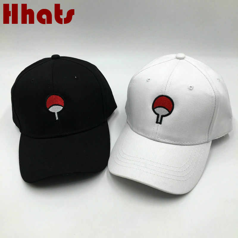 65f11917e3c5e Embroidery Japanese Anime Naruto Dad Hat For Women High Quality Cotton Uchiha  Family Logo Mens Baseball
