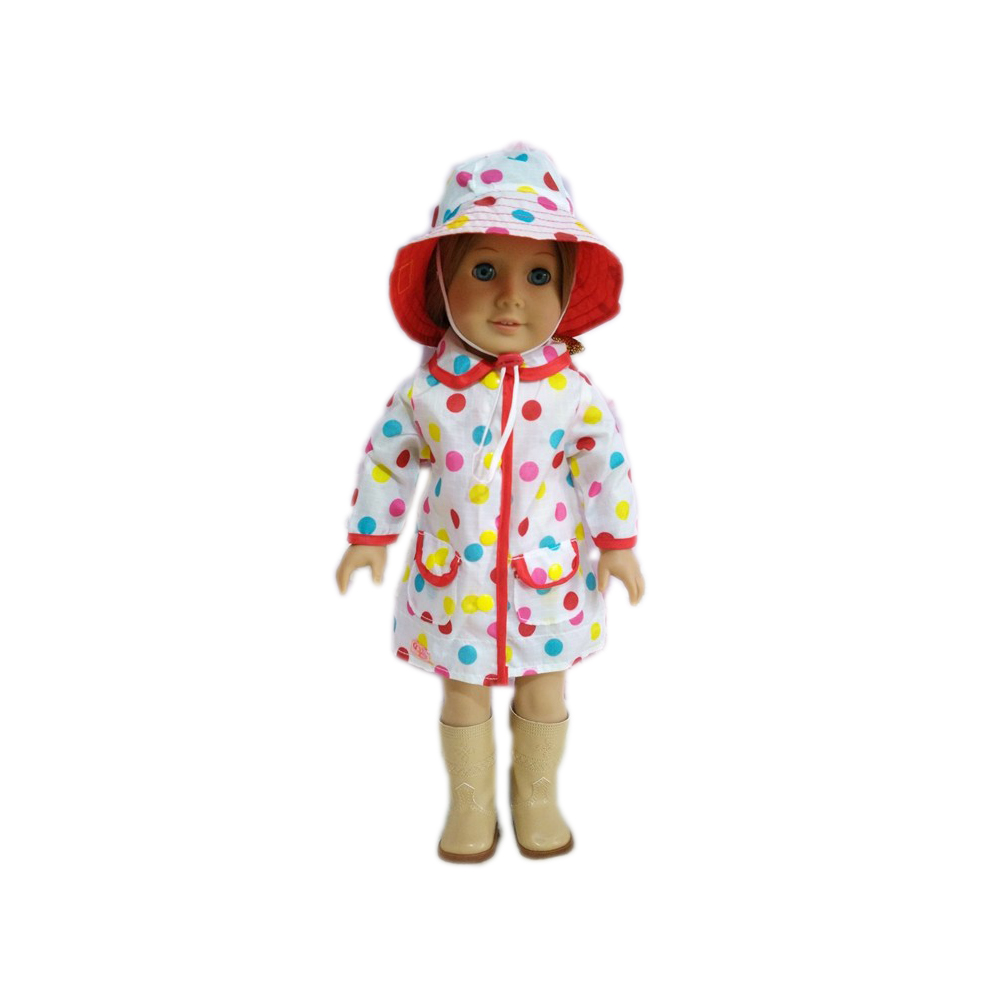 2pcs\set NEW ARRIVE fashion spot clothes+hat fit 18 inch American girl doll \ doll accessories(without shoes)b849 9 colors american girl doll dress 18 inch doll clothes and accessories dresses