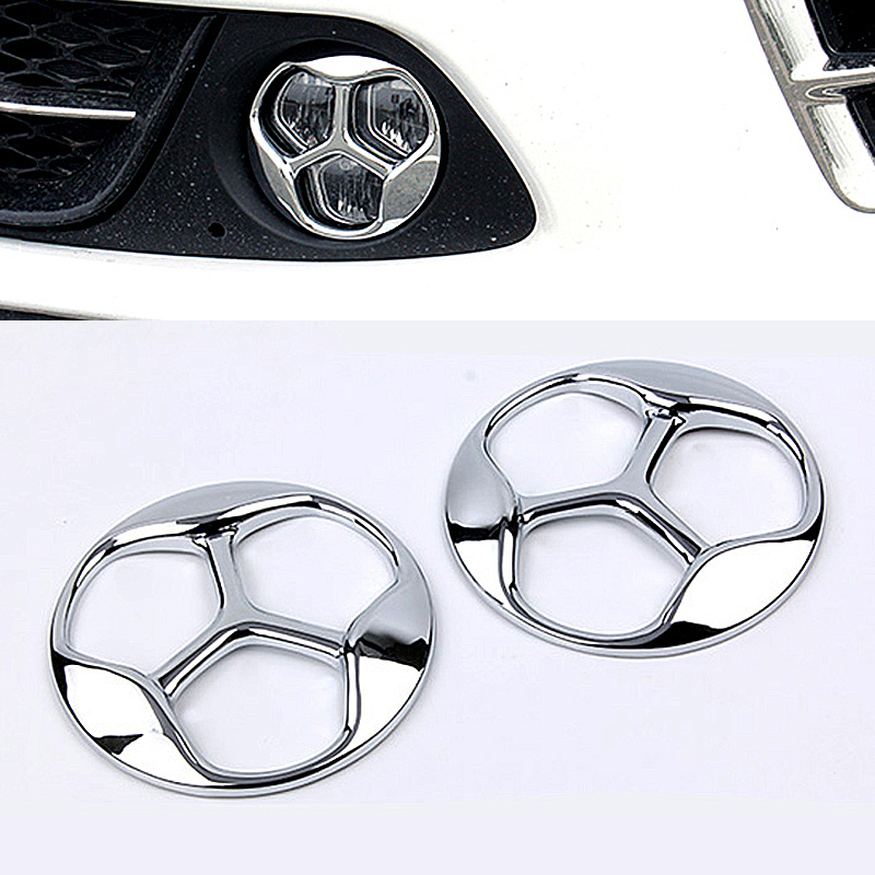 car accessories ABS Chrome Car Front Fog Lamp Light Cover trim For 2016 2017 2018 Kia Optima K5