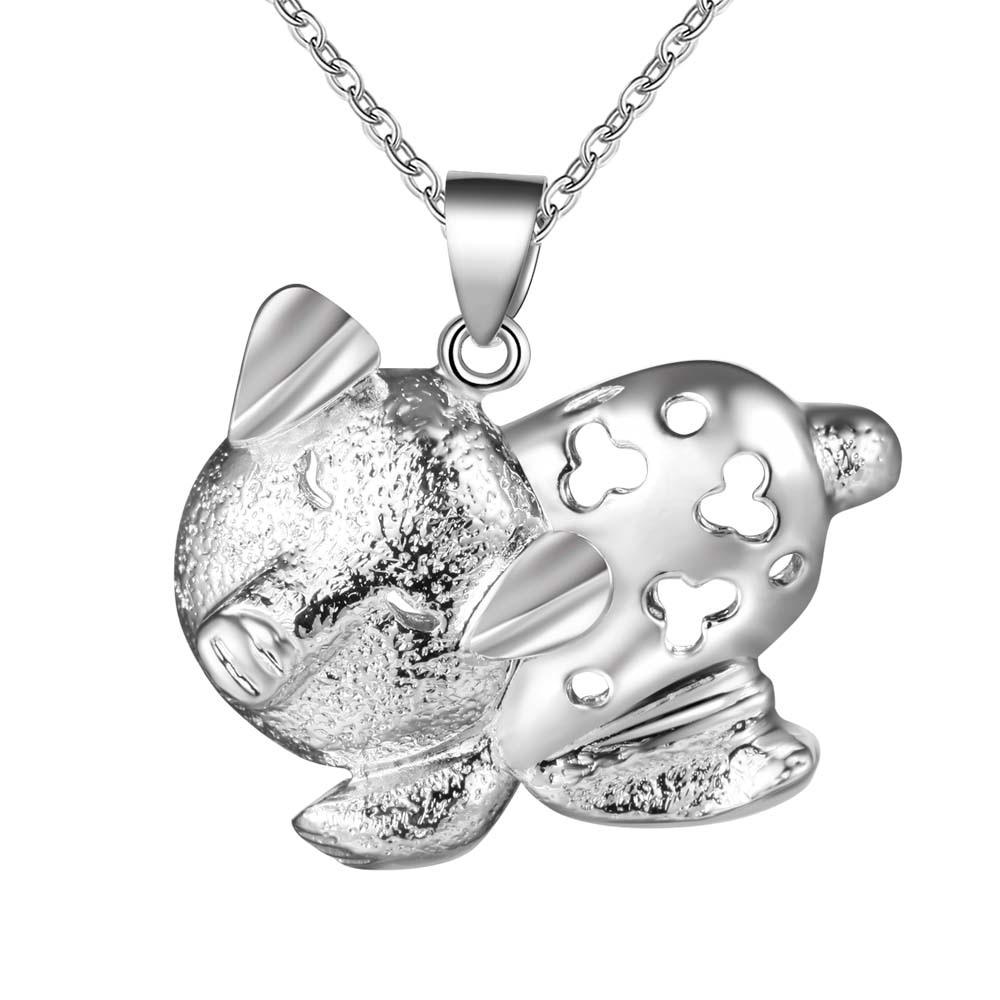 c76d220de9fc Plateado plata al por mayor encanto jewelrys Collar