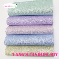15pcs 20x22cm baby color GLITTER LEATHER/Synthetic leather can choose color
