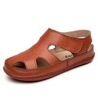 Hoge Kwaliteit Kinderen Sandalen Voor Meisjes Jongen Schoenen Lederen Ademende En Comfortabele Baby Sandaal voor 3-12 Jaar