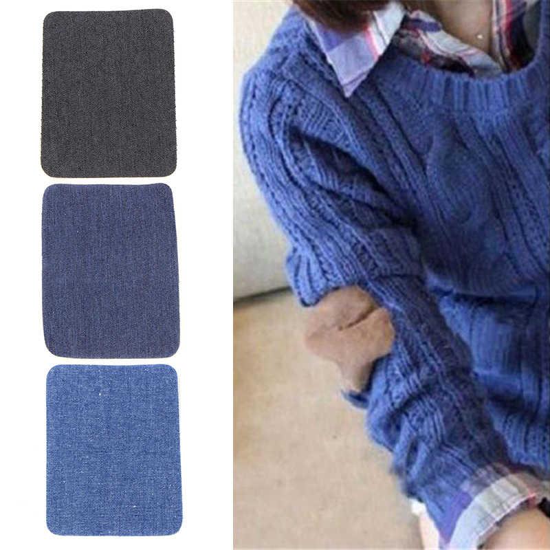 TỰ LÀM Sắt Trên Các Bản Vá Lỗi Sửa Chữa Đầu Gối Jeans Vá May Vải Đính Cao Bồi Màu Xanh Các Bản Vá Lỗi Cho Quần Áo Artesanatos Acessorios
