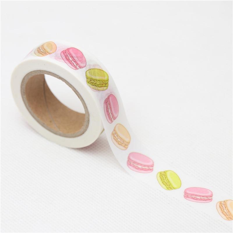 15mm*10m Creative Macaron Cake Decorative Washi Tape DIY Scrapbooking Masking Tape School Office Supply