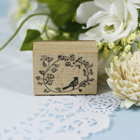 Handmade Bird Flower 4 5cm Tinta Sellos Craft Wooden Rubber Stamps For Scrapbooking Carimbo Timbri Stempel