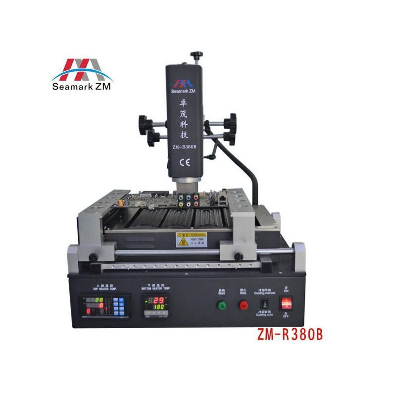 ZhuoMao ZM-R380B infrarouge et Air chaud BGA Station de reprise 3000 W machine de réparation de carte pcb de puissance