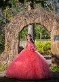Real photo 2017 quinceanera vestidos de baile frisada cristais em camadas ruffles sweet 16 ano princesa vestidos para 15 anos