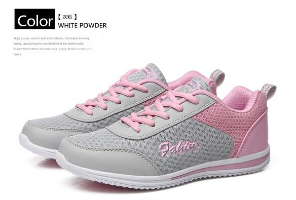 Fashion Sport Women's Casual Shoes 2017 Summer Women Trainers Flat Heels Outdoor Runner Shoes Size 35-40 Ladies Shoes