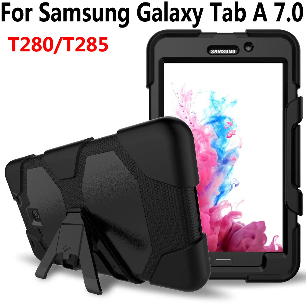 Armor Case For Samsung Galaxy Tab A6 A 7.0 2016 T280 T285 Cover Silicone Heavy Duty Kid Safe Tablet Case For Samsung Tab A 7.0