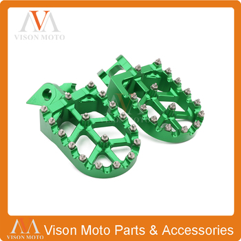 CNC Foot Pegs Rests Pedals For KAWASAKI KX125 KX250 1997-2001 1997 1998 1999 2000 2001 KX500 1988-1990 1988 1989 1990 Motorcycle