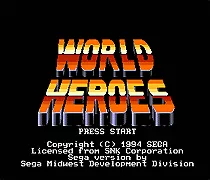 World Heroes - 16 bit MD Games Cartridge For MegaDrive Genesis console