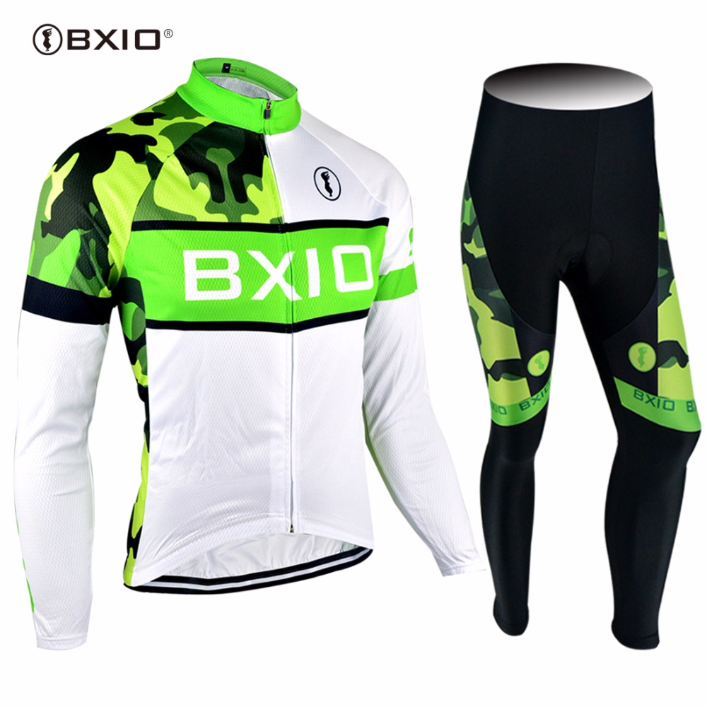 2017 New Arrival BXIO Brand Bicycle Sets Long Sleeves Pro Team Road Bike Clothing MTB Autumn Cycling Jersey Ropa Ciclismo 072 west biking bike chain wheel 39 53t bicycle crank 170 175mm fit speed 9 mtb road bike cycling bicycle crank
