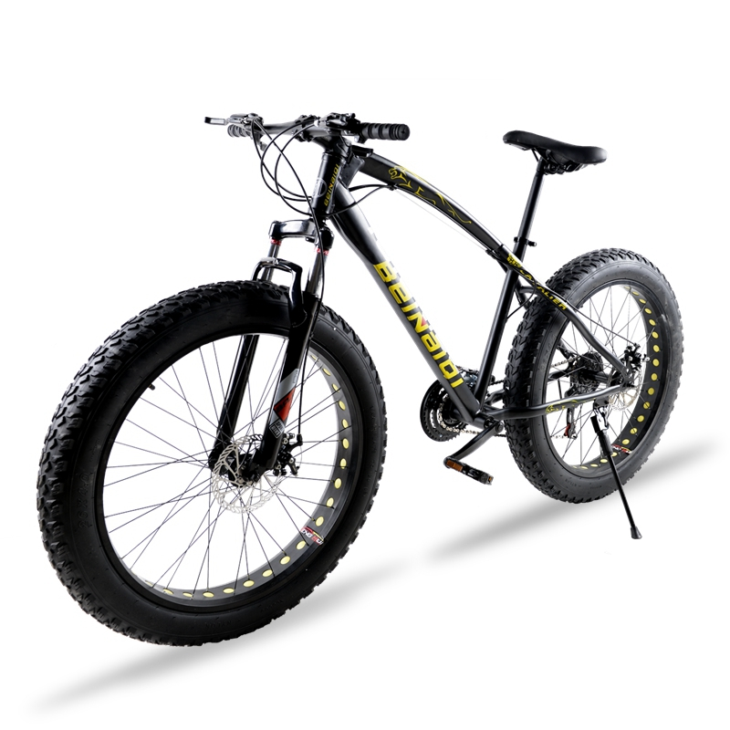 bicycle Mountain Bike 7/21 speed 26X 4.0 fat bike road bike Front and Rear Mechanical Disc Brake Spring Fork Alloy wheels bike ...