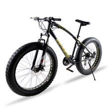 bicycle Mountain Bike 7/21 speed 26″X 4.0″ fat bike road bike Front and Rear Mechanical Disc Brake Spring Fork Alloy wheels bike