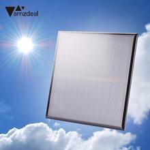 amzdeal New 1.2W 5.5V Monocrystalline Solar Panel Epoxy Battery For Phone Charging Outdoor Travelling Powerbank DIY Module Cell