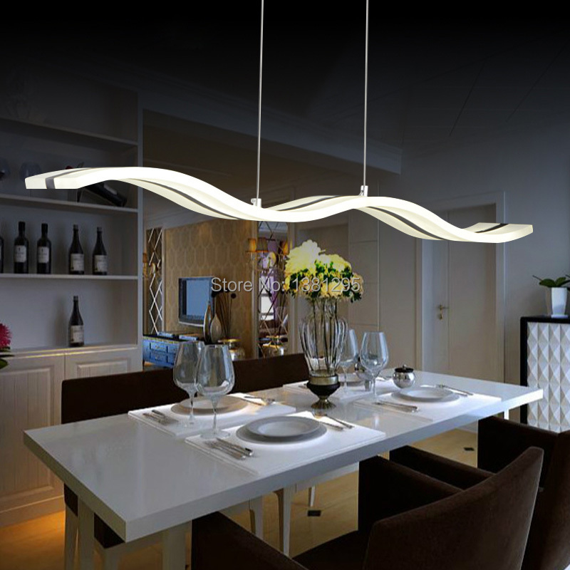 led pendant lights modern design kitchen acrylic suspension hanging ceiling lamp dining table home lighting led - Low Dining Room Table