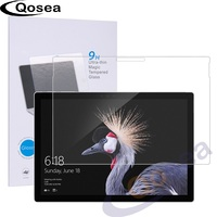 Qosea New Tempered Glass For Microsoft Surface Pro 5 Table 9H Hardness Clear Protective Film Explosion