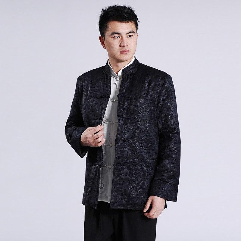 Chemise traditionnelle chinoise à manches longues vêtements Tang costume Cheongsam haut hommes tenue uniforme Kung Fu vêtements Vetement Homme Blusas