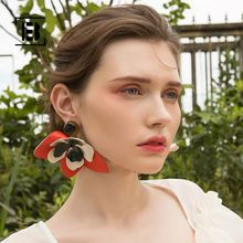 Luxury Special Design Big Flower Earrings for Women Female New Fashion  Acrylic Trendy Statement Jewelry Wedding Gifts Wholesale