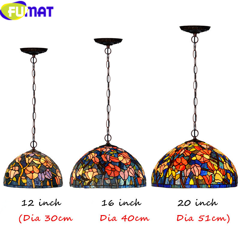 6Tiffany bombax Stained Glass Pendant Lamps