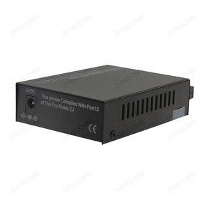 Image 4 - Conversor de mídia duplo 1 par, 10/100/1000m, singlemode, fibra óptica, 20km, conversor de mídia conector do porto rj45 sc, frete grátis