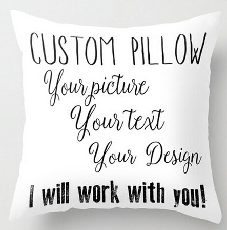 Custom Pillow With Text