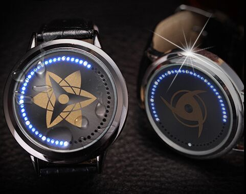 Free Shipping Naruto Watch kakashi Led Back Light Waterproof Watch 1pcs