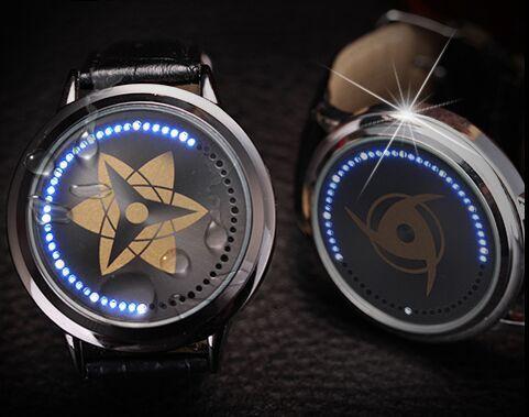 Free Shipping Naruto Watch kakashi Led Back Light Waterproof Watch 1pcs