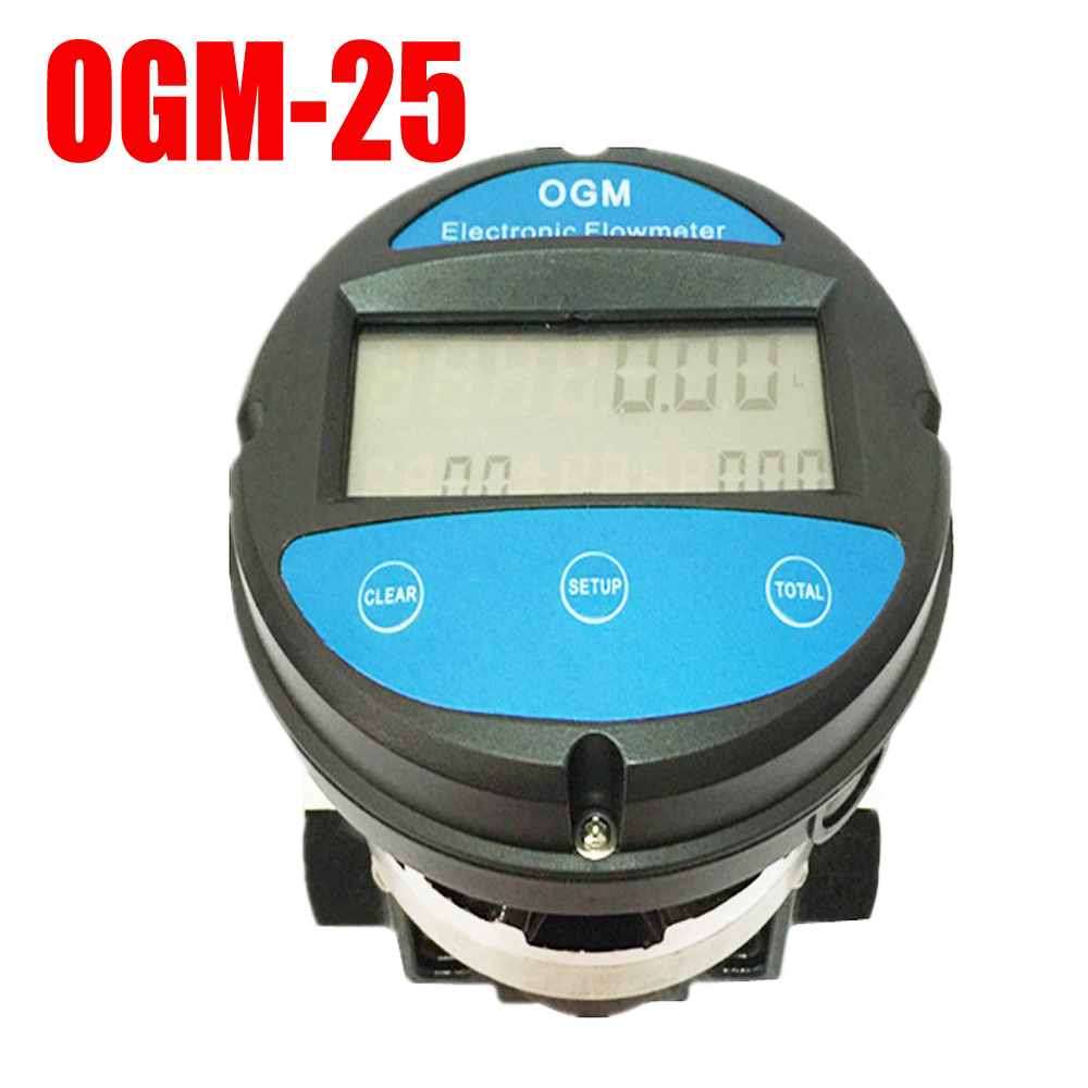Electronic Water Flow Meter : Ogm dn digital electronic flowmeter oval gear water