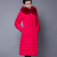 Women Wadded Jackets Winter Jacket Women 2017 Winter Coat  Plus Size  Long Parka Luxury Fur Cotton-Padded Down Coats  A016