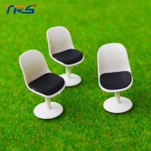 Teraysun 50pcs Model toys Architectural model making ABS plastic chair 1/25