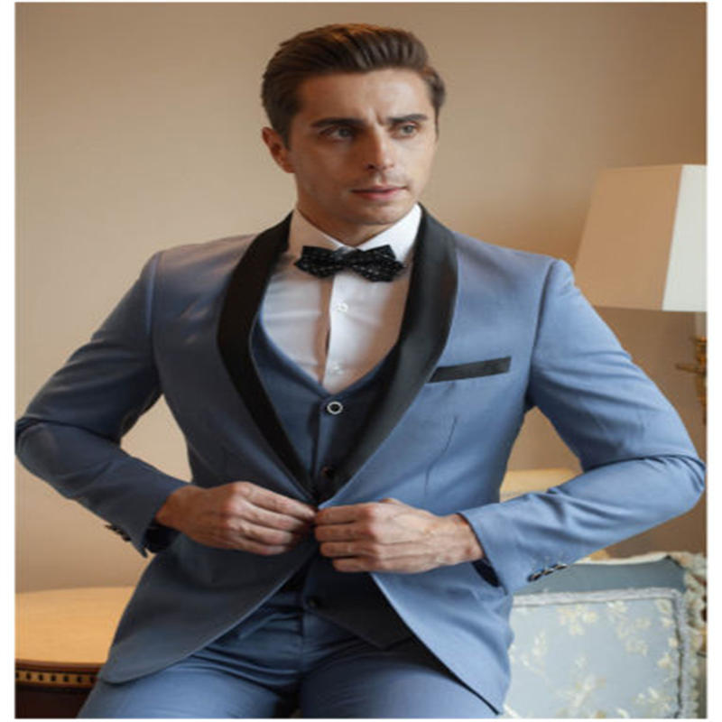 New Arrival Mens 3 Piece Business Suit Slim Fit Suit Groom Wedding Ball Gown Suit (Jacket+Trousers+vest) Customized Made