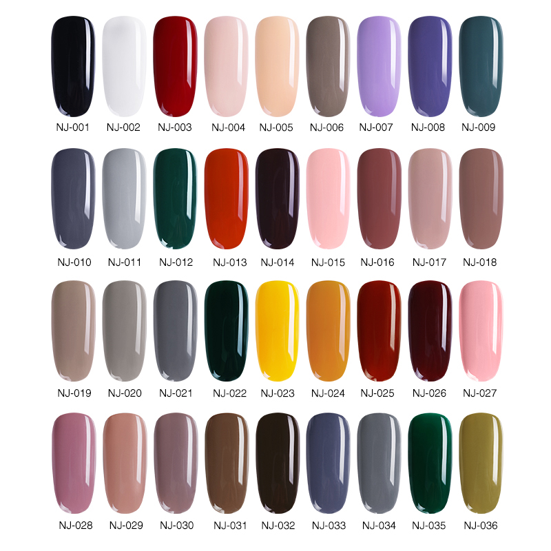NEE JOLIE 7 5ml Nail Polish Matte Effect Nails Color Nail Varnish Manicure Fast Dry Nail Art Lacquer Polish for Fingers in Nail Polish from Beauty Health