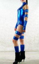 Women Sexy Shiny Spandex Catsuits/Jumpsuit,Blue Bodysuit Dance Wear