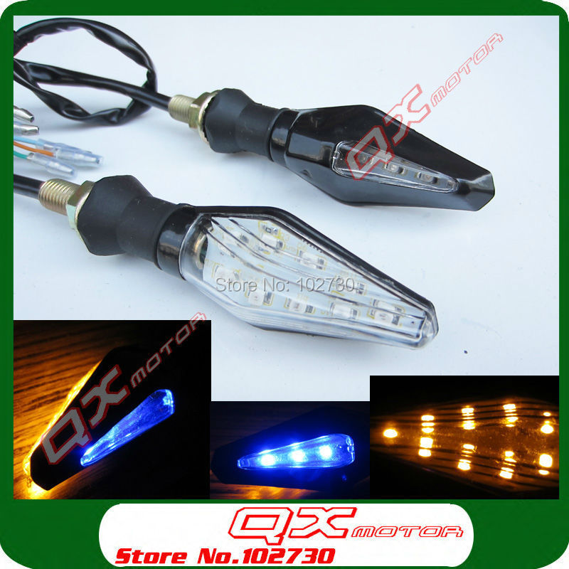 1 pair High Qualtiy Dirt Bike ATV Quad Motorcycle Street Scooter USE NEW LED Turn Signal Indicators Lights Free shipping
