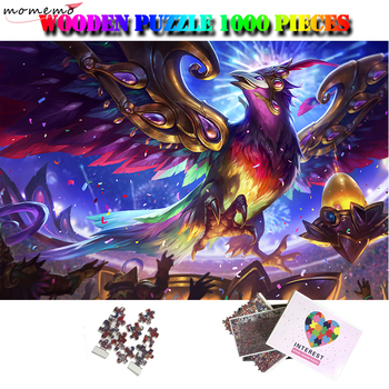 MOMEMO Anivia Wooden Puzzle 1000 Pieces Toys Cartoon Game Jigsaw Puzzle Fantasy Animal Adults Kids Puzzle Toys Surprise Gifts